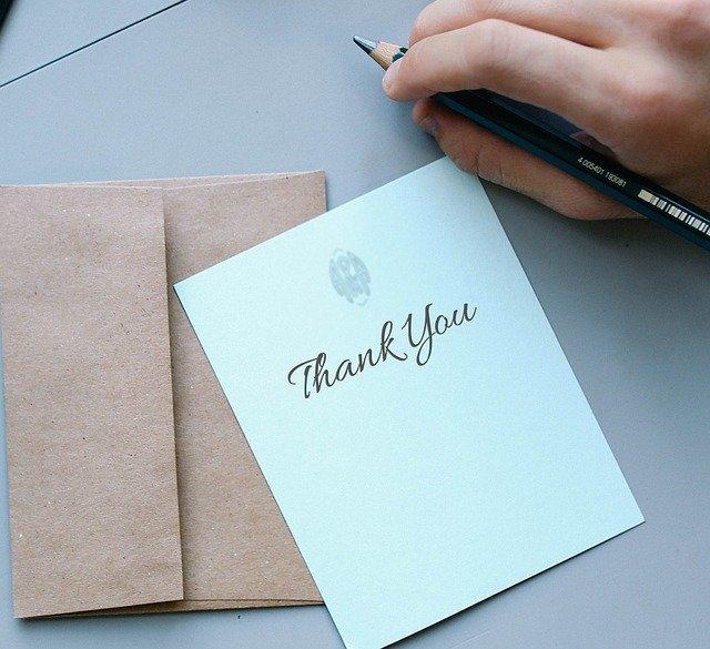 de agradecimiento